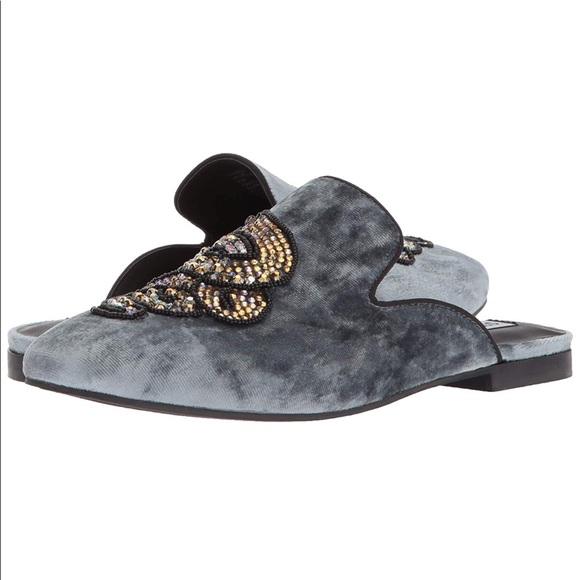 7750d363b0b Steve Madden Velvet Loafer Flat Mule